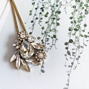 J. Crew Long Crystal Necklace